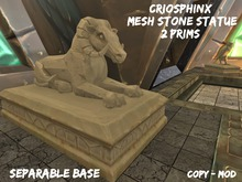 Criosphinx Stone Statue Ram - [Rakahem Serie]