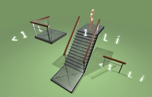 unpack! Stairs with rails mesh kit (mod, copy) egg+
