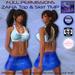 Full perm- ZAFIA Top and Skirt Fitmesh TMP