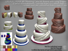 LDG-FULL PERM 961 Wedding Cake Kit Round with Icing Drape /47 parts/17 textures/Builderkit