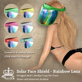 (Yummmy) Solar Face Shield - Rainbow Lens