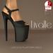 {Livalle} Luscious -Platform Heels- Noir