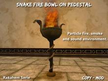 Fire bowl Snake Pedestal Rakahem