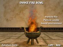 Fire bowl Snake Rakahem