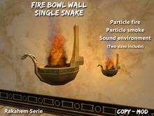 Fire bowl Wall Snake Rakahem