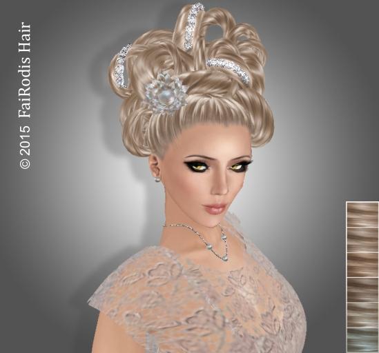 FaiRodis Almira hair light blonde2 with hair decoration