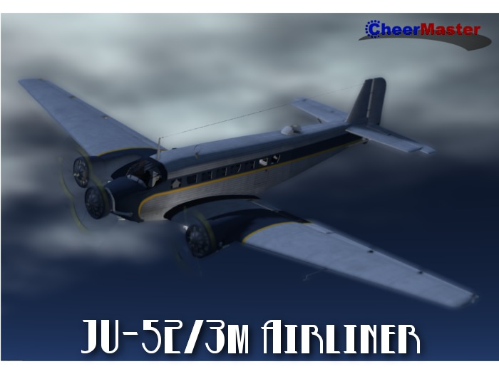 JU-52/3m Airliner from CheerMaster (mod, copy) Airplane