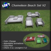 Lok's Chameleon Beach Set V2 with Color Change (White Wood)