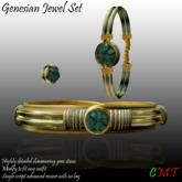 -o-o- CH- o-o- Genesian Lace Silk Jewelry - Nymph Green