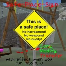 safe-place sign - modifyable
