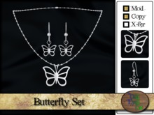 >^OeC^< Butterfly Set (gold/silver)