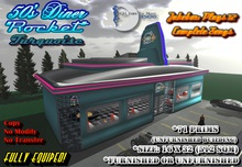 "50's Diner ""Rocket"" Turquoise. The Jukebox Plays 12 Different COMPLETE Songs"