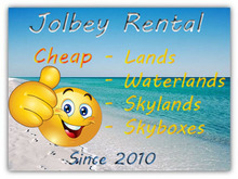 Jolbey Rental: 1/4 Sim, 5625 prims, 4499 L$ a week or 17096 L$ a month only on our Land Rental!