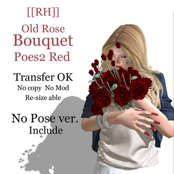 [[RH]] Old Rose Bouquet -Red- Pose2