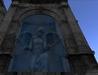 angel statue waterfall ruine