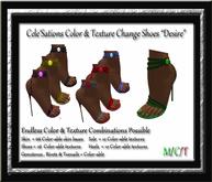 """Cele'Sations Color & Texture Change Shoes """" Desire """""""