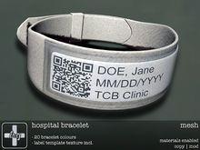 [ht+] hospital bracelet