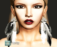 WERTINA 3 feather earrings