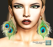 WERTINA Double Peacock Earrings