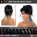 A&A Tilly Hair 11 Black Tipped Colors Variety Pack. Updo with curls