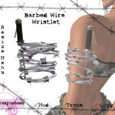 ::Foxy Fashions:: Barbed Wire Wristlet