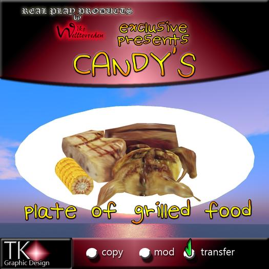 CANDYs * Grillteller - Kleine BBQ Platte - Exklusives Essen [G&S Kompatibel] * Sehr lecker * Viele Details