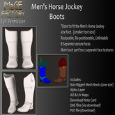 Close Out Sale IFMC Horse Jockey Boots Men's