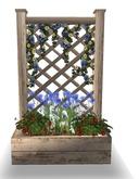 LEP ~ Patriotic White Summer Trellis Planter