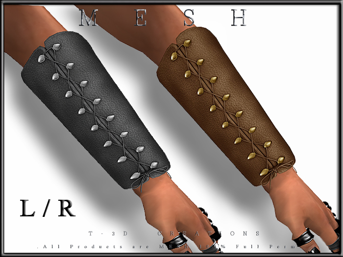 T-3D Creations [ Laced Arm Guard For Men ]  Micro MESH - Full Perm -