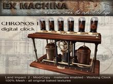 Chronos 1 - Steampunk Digital Clock