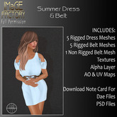 Close Out Sale IFMC Summer Dress & Belt Full Perm
