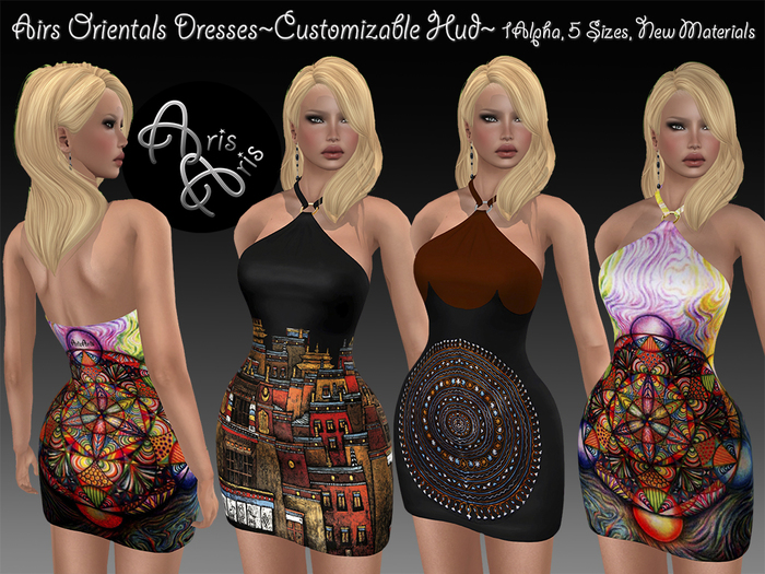 ***ArisAris AA93~Airs Oriental Dresses~Customizable Hud