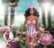 TOPAZIA- funny spring bunny pink