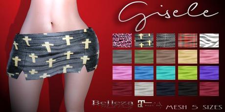 Mute. Gisele Skirt - Black compatible with Belleza and Maitreya