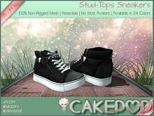 [Cakepop] Stud-Tops Sneakers - Black [MESH] fits Toddleedoo & Adults! Re-sizable!