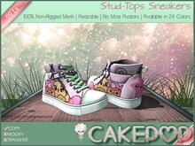 [Cakepop] Stud-Tops Sneakers - Kawaii [MESH] fits Toddleedoo & Adults! Re-sizable!
