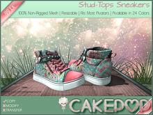 [Cakepop] Stud-Tops Sneakers - Polkafloral [MESH] fits Toddleedoo & Adults! Re-sizable!
