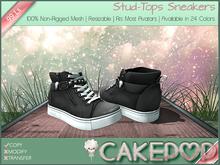 [Cakepop] Stud-Tops Sneakers - Grey [MESH] fits Toddleedoo & Adults! Re-sizable!