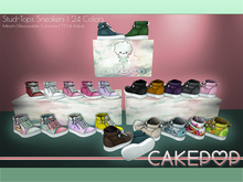 [Cakepop] Stud-Tops Sneakers - FATPACK [MESH] fits Toddleedoo & Adults! Re-sizable!