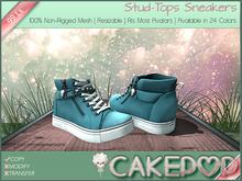 [Cakepop] Stud-Tops Sneakers - Cyan [MESH] fits Toddleedoo & Adults! Re-sizable!