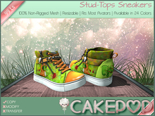[Cakepop] Stud-Tops Sneakers - Dino [MESH] fits Toddleedoo & Adults! Re-sizable!
