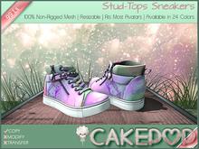 [Cakepop] Stud-Tops Sneakers - Unicorn [MESH] fits Toddleedoo & Adults! Re-sizable!