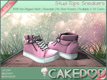 [Cakepop] Stud-Tops Sneakers - Light Pink [MESH] fits Toddleedoo & Adults! Re-sizable!