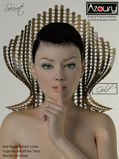 AZOURY - SECRET Collar (Gold)