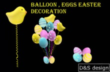 D&S design Balloon , eggs easter decoration