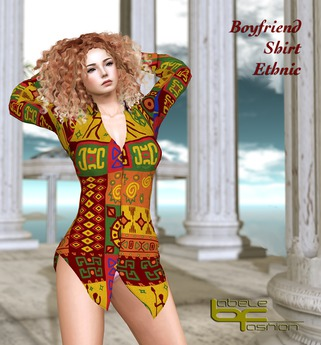 Babele Fashion :: Boyfriend Shirt Ethnic