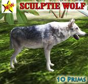 SCULPTED WOLF WITH SOUND !!