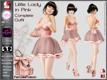 !FP! Little Lady in Pink Complete Outfit - Slink Physique TMP Maitreya Omega and Lolas Appliers