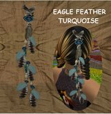 While Dreams - Feather flexi  hair aegle - Plume  turquoise aigle - Indian - Amrinden - While Swot-
