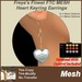 Freya's Finest MESH FTC Heart Keyring Earrings